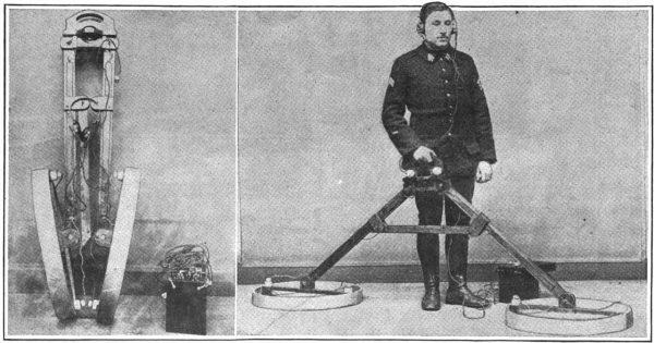 Tak wyglądał jeden z pierwszych wykrywaczy metali z 1919 roku.