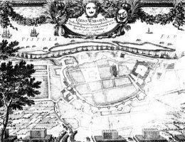 Umocnienia wokół Warszawy w trakcie jej oblężenia w 1656 roku.