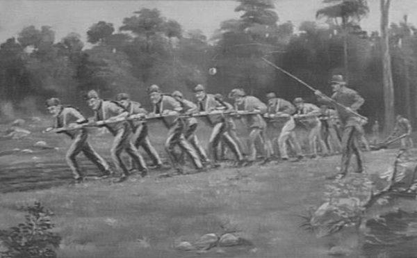 Grupy skazańców były wykorzystywane do różnego rodzaju prac rolnych przez pierwszych osadników.