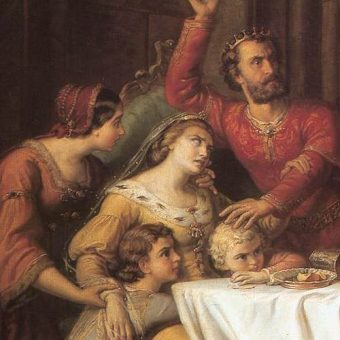 Elżbieta Łokietkówna z dziećmi.