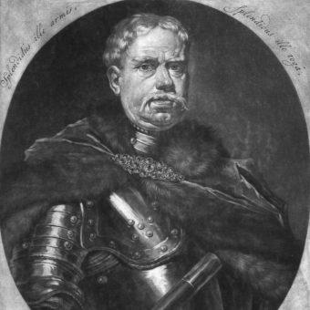 Franciszek Gałecki dowodził załogą wojsk koronnych we Lwowie. XVIII-wieczny obraz Petera Schenka.