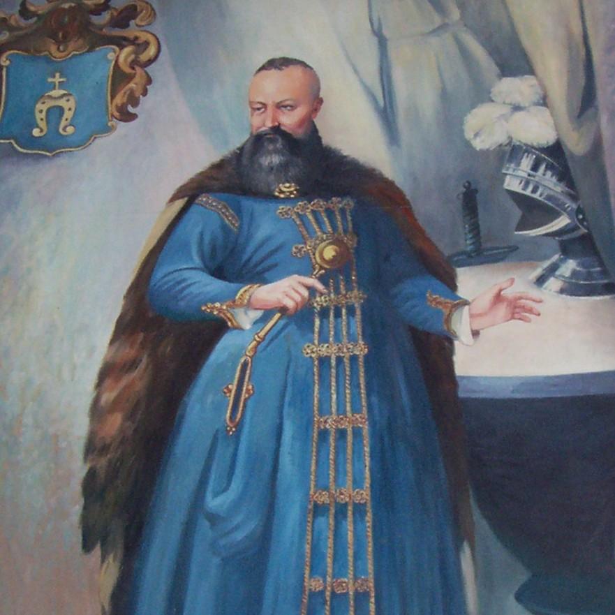 Portret Stanisława Koniecpolskiego w sieni pałacu w Koniecpolu.