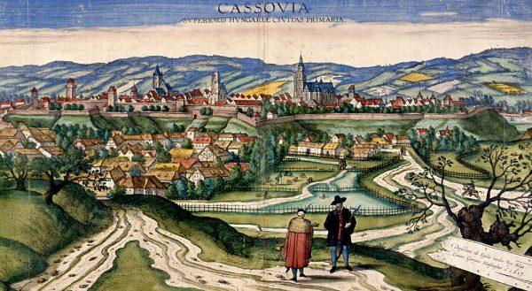 Koszyce na panoramie z początku XVII wieku