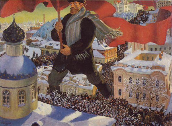Czy gdyby nie niemieckie pieniądze Rosja zostałaby państwem o ustroju demokratycznym? Na to pytanie historycy próbują odpowiadać do dziś, m.in. na podstawie wciąż wypływających, nowych dokumentów i źródeł. Na zdjęciu ilustracja przedstawiająca rewolucję październikową w Rosji autorstwa Borisa Kustodiewa.
