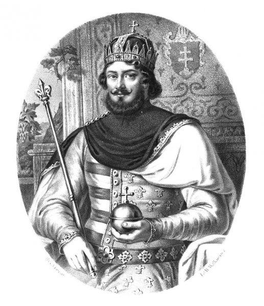 Ludwik Andegaweński. Portret z przełomu XIX i XX wieku