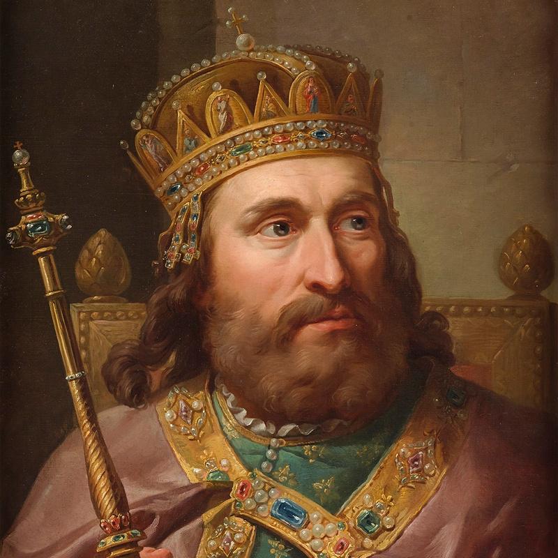 Portret Ludwika Węgierskiego autorstwa Marcello Bacciarellego.