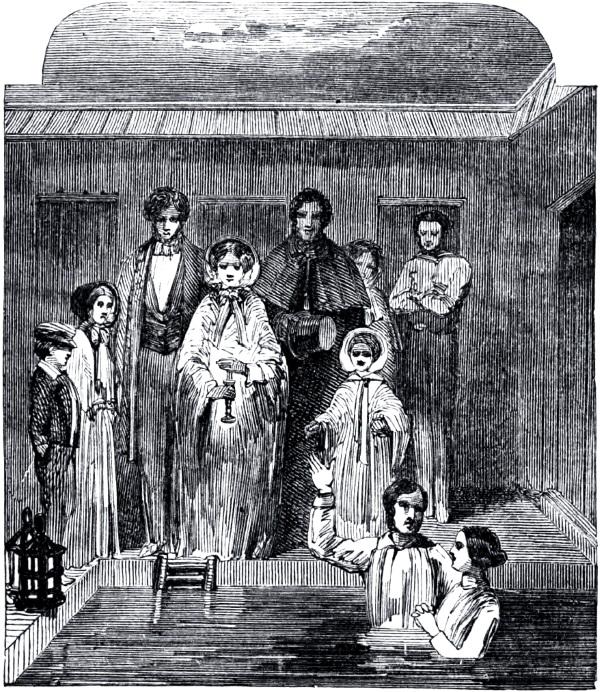 Mormoński chrzest około roku 1850. (fot. domena publiczna).