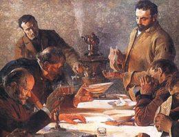 Obraz Jacka Malczewskiego Wigilia na Syberii - miniatura
