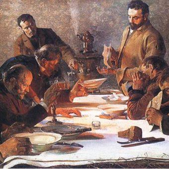 Obraz Jacka Malczewskiego Wigilia na Syberii