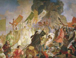 Oblężenie Pskowa na obrazie Karla Briułłowa z 1843 roku.