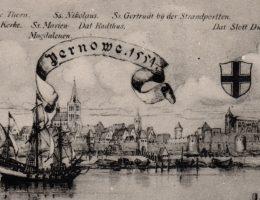 Parnawa w 1554 roku. Widok od północy.