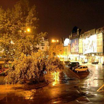 Plac Szewczyka nocą w 2006 roku.