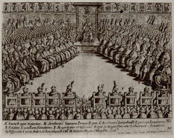 Sejm walny, na który składały się trzy stany sejmujące, był podstawą ustroju I Rzeczypospolitej.
