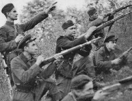 Żołnierze UPA w obwodzie równieńskim w 1947 roku.