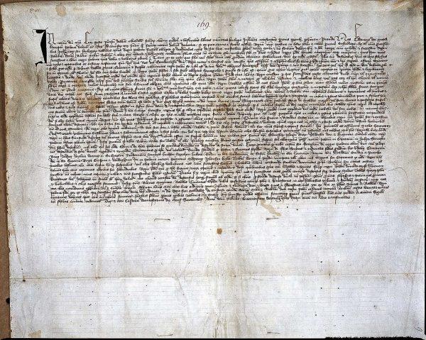 Zachowany dokument przywileju koszyckiego z 1374 roku