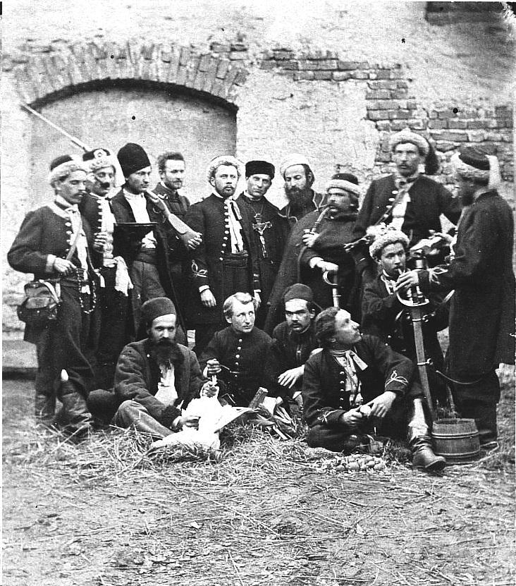 Młody Chmielowski wkrótce po wybuchu powstania trafił do elitarnego oddziału żuawi śmierci.
