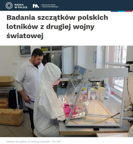 Polscy naukowcy badają szczątki lotników. (fot. screen ze strony http://naukawpolsce.pap.pl/)