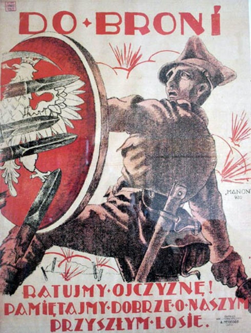 Polski plakat rekrutacyjny z czasów wojny polsko-bolszewickiej. Tak zachęcano mężczyzn do wstępowania w szeregi Wojska Polskiego w lipcu 1920 roku.