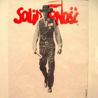 """""""Solidarność"""" to już dziś niemal synonim opozycji wobec władz PRL. Czy jednak w czasie swojej działalności cieszyła się ona poparciem większości społeczeństwa? Na ilustracji fragment słynnego plakatu z 1989 roku."""