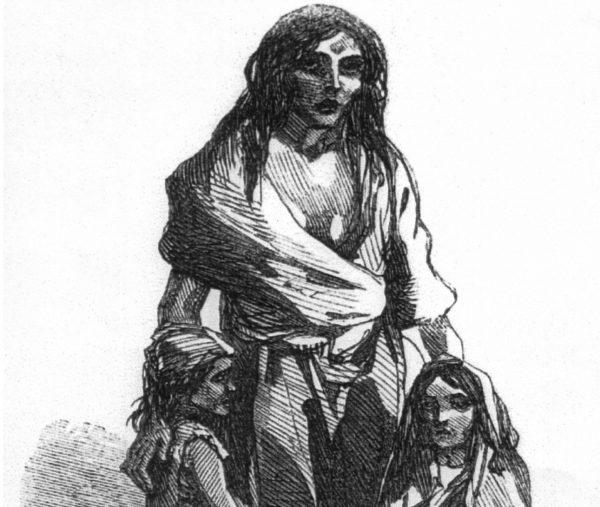 Irlandzki wielki głód doprowadził do zmniejszenia populacji o jedną piątą. Symbolem klęski, która spotkała Irlandię, stała się Bridget O'Donnel, która z powodu gorączki wywołanej głodem straciła dziecko.