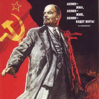 Czy wiemy czym w rzeczywistości była reolucja październikowa? Na ilustracji fragment sowieckiego plakatu propagandowego.
