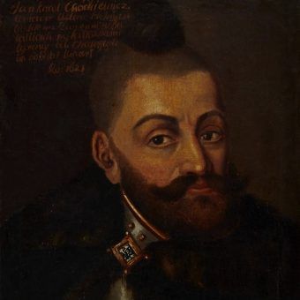 Jan Karol Chodkiewicz na anonimowym portrecie z 1621 roku.