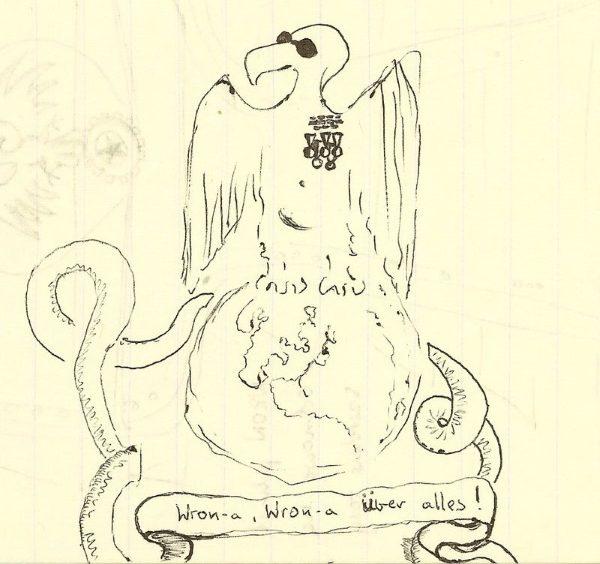 Karykatura z okresu stanow ojennego, autor Maciej Miezian (fot. domena publiczna)