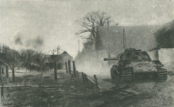 Zygmunt Bauman brał udział w walkach o Wał Pomorski. Być może właśnie za to otrzymał Krzyż Walecznych? Na zdjęciu zdobycie Mirosławca.