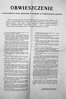 Obwieszczenie Rady Państwa o wprowadzeniu stanu wojennego. Jak pokazują fakty, Rada Państwa nie miała prawa do wydania grudniowego dekretu roku 1981.