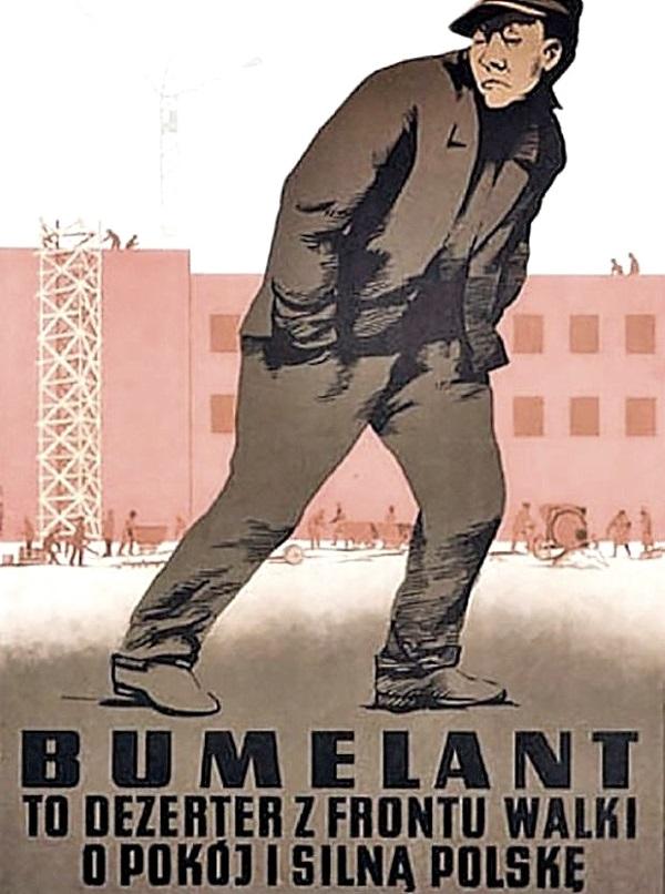 Bumelanci byli prawdziwymi wrogami klasowymi, w których wymierzonych było wiele utworów (fot. domena publiczna)