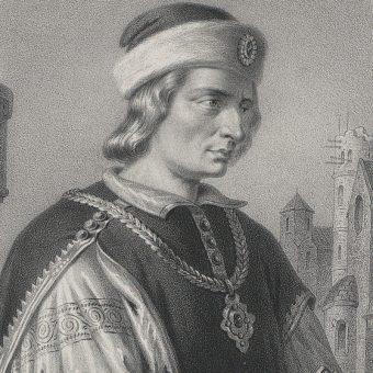 Władysław Herman na grafice Aleksandra Lessera.