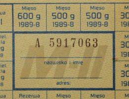 Jeden z symboli PRL - kartki (fot. domena publiczna)