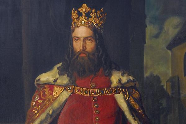 Najpopularniejszy polski monarcha Kazimierz Wielki na obrazie Leopolda Löfflera.