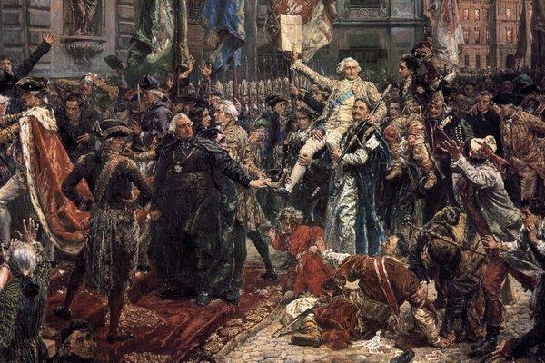 """Konstytucję Trzeciego Maja nazywano """"masońską"""". Na zdjęciu fragment obrazu Jana Matejki."""