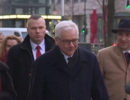 Minister Jacek Czaputowicz (fot. kadr z materiału przygotowanego przez tvn24.pl)