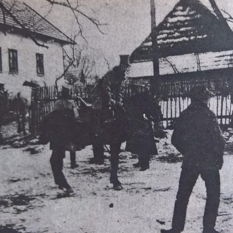 Wyjazd na patrol. Pisarzowa 7 grudnia 1914 roku.