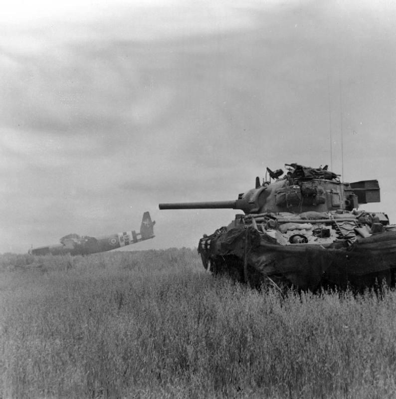 Sherman był wykorzystywany przez wojska alianckie między innymi podczas walk w Normandii.