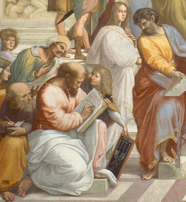 Tak Pitagorasa widział Rafael Santi (fot. domena publiczna)