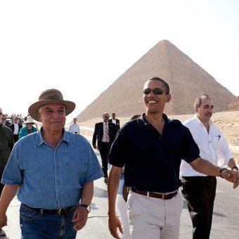 Zahi Hawass i Barack Obama (fot. domena publiczna)