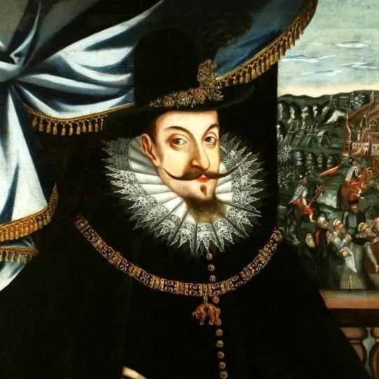 Zygmunt III Waza na portrecie pędzla Szymona Boguszowicza.
