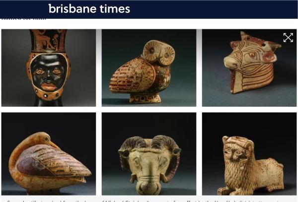 Artefakty znalezione podczas przeszukania (screen ze strony brisbanetimes.com.au)