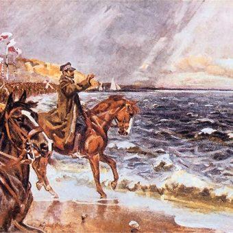 Ceremonię zaślubin Polski z morzem poprowadził generał Józef Heller.