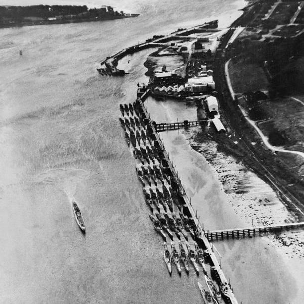 Niemieckie U-booty czekały na zatopienie na plaży w Północnej Irlandii.