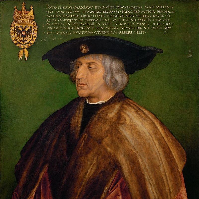 Do wyboru Maksymiliana na króla Rzymian doprowadził jego ojciec, Fryderyk III.