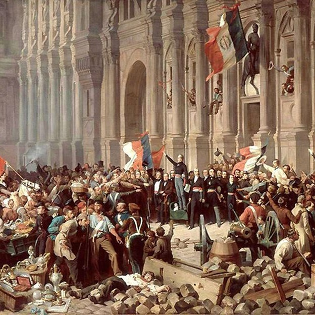 Na skutek rewolucji lutowej monarchię konstytucyjną zastąpił ustrój republikański.