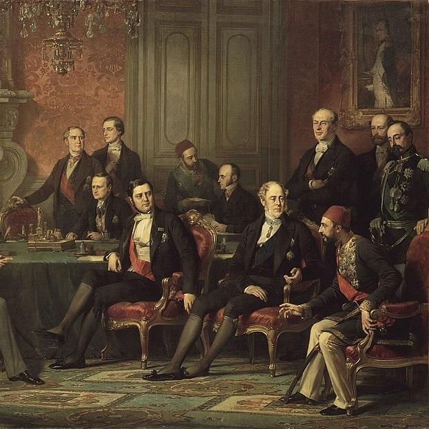 Przedstawiciele państw biorących udział w kongresie podpisali traktat pokojowy 30 marca 1856 roku.