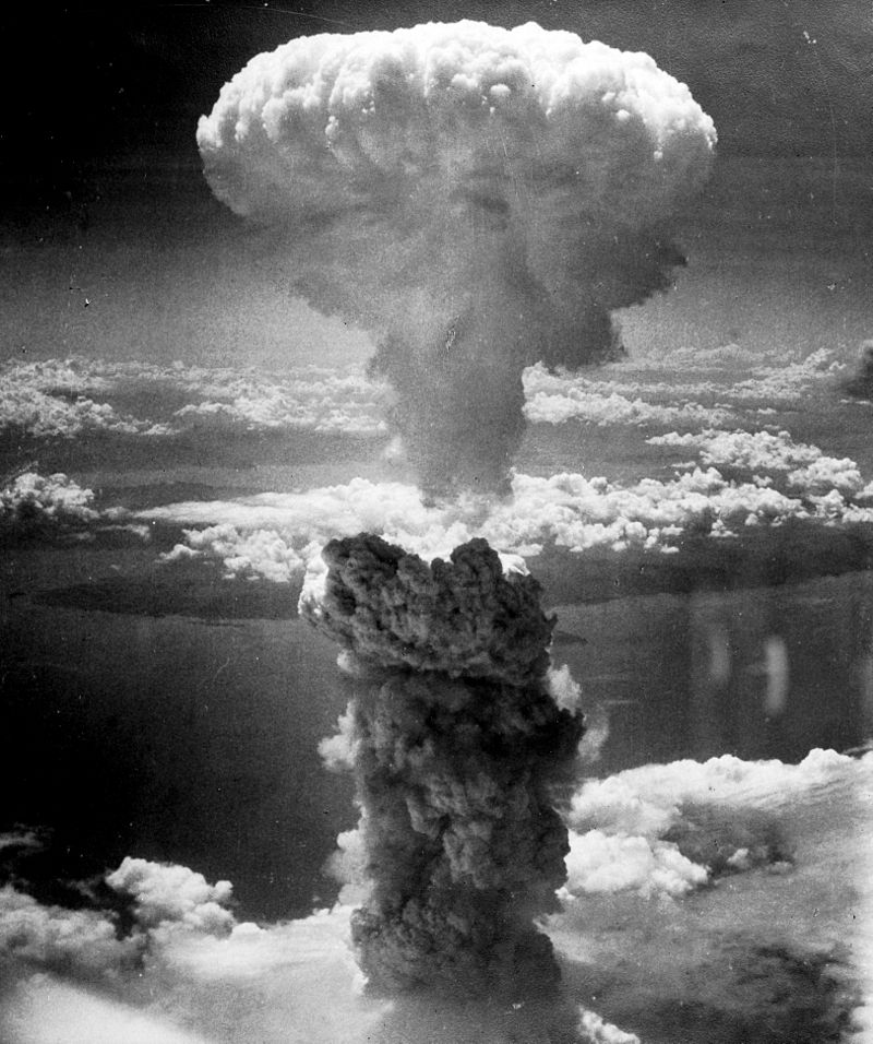 Wybuch bomby atomowej w Nagasaki, 9 sierpnia 1945 roku. Tragicznych skutków zrzutu nie przewidzieli sami Amerykanie.