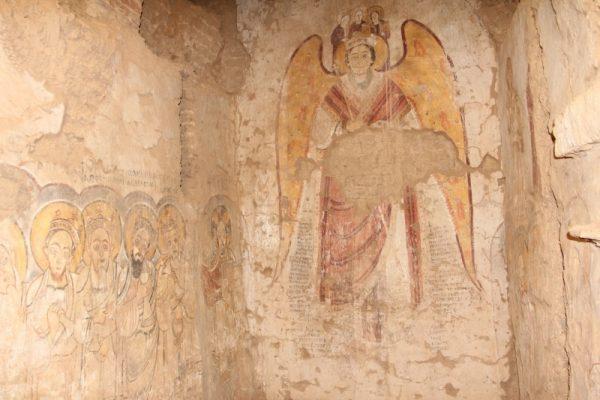 Dongola, malowidło przedstawiające wywyższenie archanioła Michała z IX wieku (fot. D. Zielińska, materiały prasowe CAŚ UW)