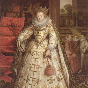 Portret Elżbiety I Tudor pędzla Marcusa Gheeraertsa Starszego. Tutaj Elżbieta również się nie uśmiecha.