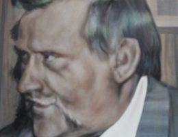 Fragment muralu przedstawiającego Lecha Wałęsę w chicagowskim Truman College (fot. Daniel X. O'Neil, lic. CC BY 2.0)